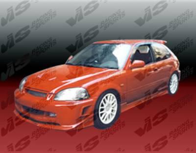 VIS Racing - Honda Civic 2DR VIS Racing Stalker Full Body Kit - 99HDCVC2DSTK-099