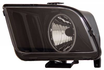 Anzo - Ford Mustang Anzo Headlights - Black with Halo CCFL - 121033