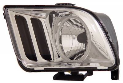 Anzo - Ford Mustang Anzo Headlights - Chrome with Halo CCFL - 121034
