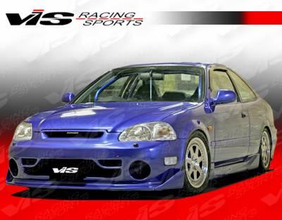 VIS Racing - Honda Civic 2DR VIS Racing Techno R Full Body Kit - 99HDCVC2DTNR-099