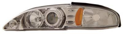Anzo - Ford Mustang Anzo Projector Headlights - with LED Halo - Chrome - 1PC - 121039