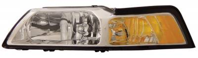 Anzo - Ford Mustang Anzo Headlights - Crystal & Chrome - 121041