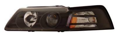 Anzo - Ford Mustang Anzo Projector Headlights - Black - 121042