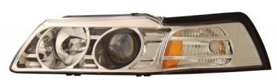 Anzo - Ford Mustang Anzo Projector Headlights - Chrome - 121043