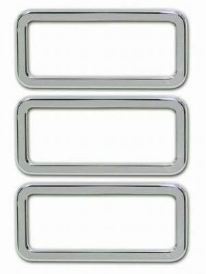 Pro-One - Pro-One Smooth Chrome Billet Logo Surrounds - Set - H30010SC