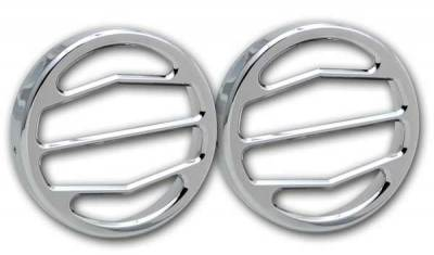 Pro-One - Pro-One Smooth Chrome Billet Driving Light Covers - Pair - H30120SC