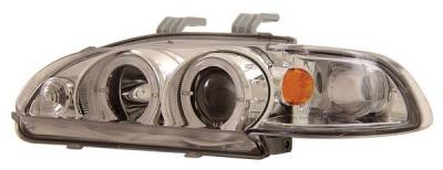 Anzo - Honda Civic 4DR Anzo Projector Headlights - with Halo Chrome - 1PC - 121066