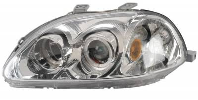 Anzo - Honda Civic Anzo Projector Headlights - with Halo Chrome - 121069