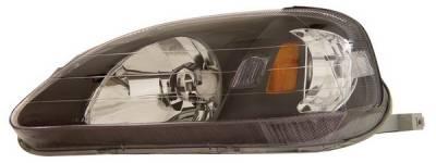 Anzo - Honda Civic Anzo Headlights - Crystal & Black - 121070