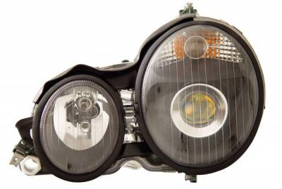 Anzo - Mercedes-Benz E Class Anzo Projector Headlights - Black - 121083