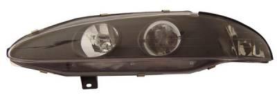 Anzo - Mitsubishi Eclipse Anzo Projector Headlights - with Halo Black - 121096