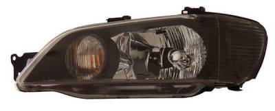 Anzo - Mitsubishi Lancer Anzo Headlights - Crystal & Black - 121101