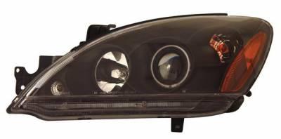 Anzo - Mitsubishi Lancer Anzo Projector Headlights - with Halo - CCFL - Black - 121102