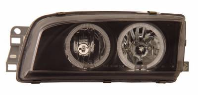 Anzo - Mitsubishi Mirage 4DR Anzo Headlights - with Halo - Black - 121104