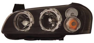Anzo - Nissan Maxima Anzo Headlights - with Halo - Black - 121113