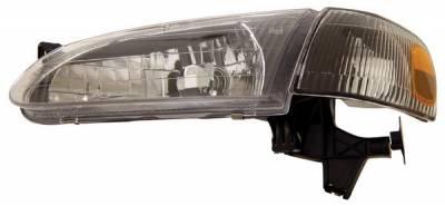 Anzo - Toyota Corolla Anzo Headlights - Crystal & Black - 121131