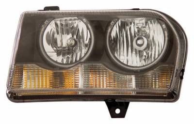 Anzo - Chrysler 300 Anzo Headlights - Crystal & Black with Halo - CCFL - 121138