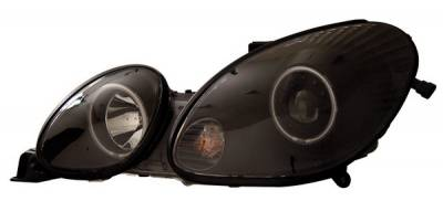 Anzo - Lexus GS Anzo Projector Headlights - with Halo - Black & Clear with Amber Reflectors - 121144