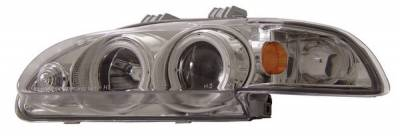 Anzo - Honda Civic 4DR Anzo Projector Headlights - Chrome Clear with Halo - 1PC - 121153