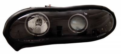 Anzo - Chevrolet Camaro Anzo Projector Headlights - with Halo - Black & Clear with Amber Reflectors - 121160