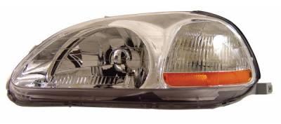 Anzo - Honda Civic Anzo Headlights - Crystal & Chrome - 121161