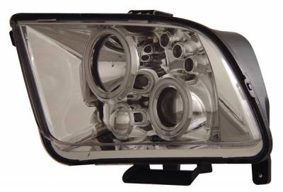Anzo - Ford Mustang Anzo Projector Headlights - with Halo - Chrome & Clear with Amber Reflectors - 121162
