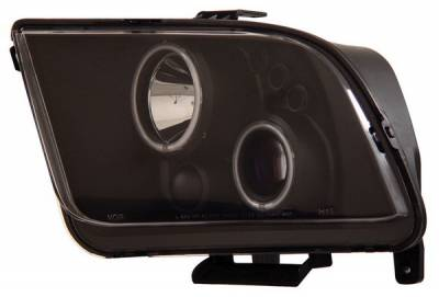 Anzo - Ford Mustang Anzo Projector Headlights - with Halo - Black & Clear with Amber Reflectors - 121166