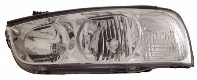 Anzo - Hyundai Elantra Anzo Headlights - Crystal & Chrome - 121183