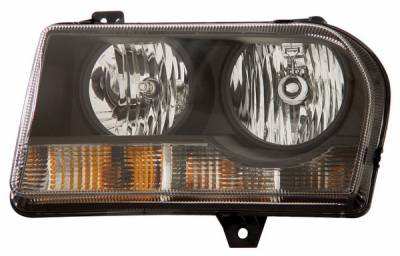 Anzo - Chrysler 300 Anzo Headlights - Crystal & Black - 121186
