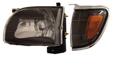 Anzo - Toyota Tacoma Anzo Headlights - Black with Amber Reflectors - 121190