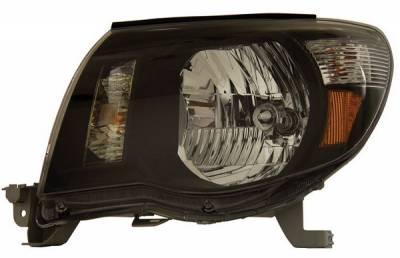 Anzo - Toyota Tacoma Anzo Headlights - Black with Amber Reflectors - 121191