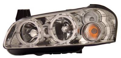Anzo - Nissan Maxima Anzo Headlights - Chrome & Clear with Halos - 121202