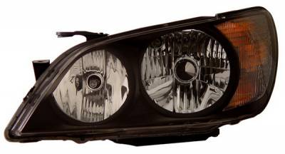 Anzo - Lexus IS Anzo Projector Headlights - Black & Clear - 121210