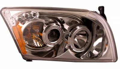 Anzo - Dodge Caliber Anzo Projector Headlights - Chrome & Clear Halos - CCFL - 121213