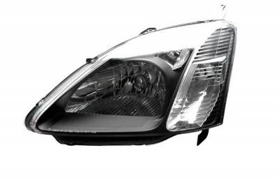 Anzo - Honda Civic HB Anzo Headlights - Crystal & Black - 121238