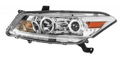 Anzo - Honda Accord 2DR Anzo Projector Headlights - Halo Chrome & Clear Amber- CCFL - 121249