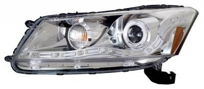 Anzo - Honda Accord 4DR Anzo Projector Headlights - Halo Chrome & Clear Amber- CCFL - 121253