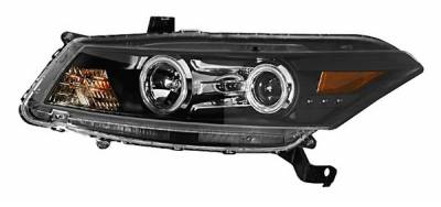 Anzo - Honda Accord 2DR Anzo Projector Headlights - Halo Black Clear Amber - CCFL - 121258