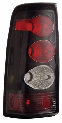 Anzo - Chevrolet Silverado Anzo Taillights - Black - 211022