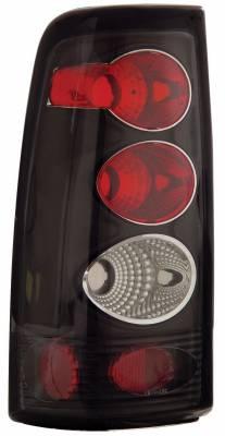 Anzo - Chevrolet Silverado Anzo Taillights - Black - 211025