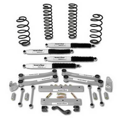 Warrior - Jeep Wrangler Warrior Front Coil Springs - 4 Inch - 800001