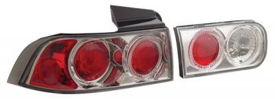 Anzo - Acura Integra 4DR Anzo Taillights - with Halo - Chrome - 221007