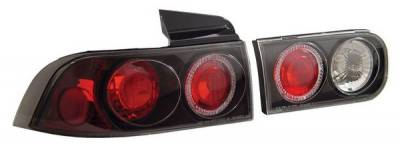 Anzo - Acura Integra 4DR Anzo Taillights - with Halo - Black - 221008