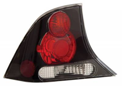 Anzo - Ford Focus Anzo Taillights - Black - 221025