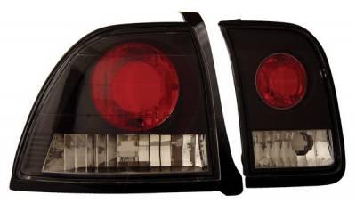 Anzo - Honda Accord Anzo Taillights - Black - 221039