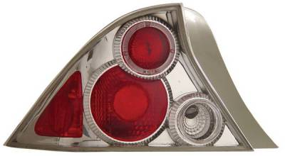 Anzo - Honda Civic 2DR Anzo Taillights - with Halo - Chrome - 221045