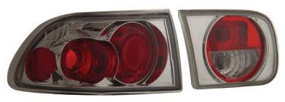 Anzo - Honda Civic 2DR & 4DR Anzo Taillights - Chrome - 221054