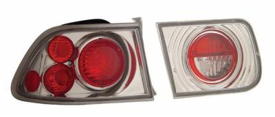 Anzo - Honda Civic 2DR Anzo Taillights - Chrome - 221060