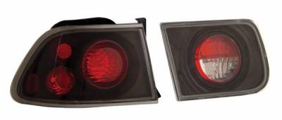 Anzo - Honda Civic 2DR Anzo Taillights - Black - 221062