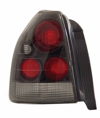 Anzo - Honda Civic HB Anzo Taillights - Carbon - 221064